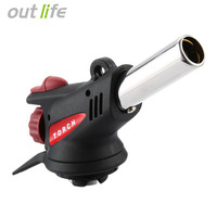 Outlife Gas Torch Flamethrower Automatic Piezoelectricity Lgnite And Heating Outdoor Camping Barbecue Stove Equipment