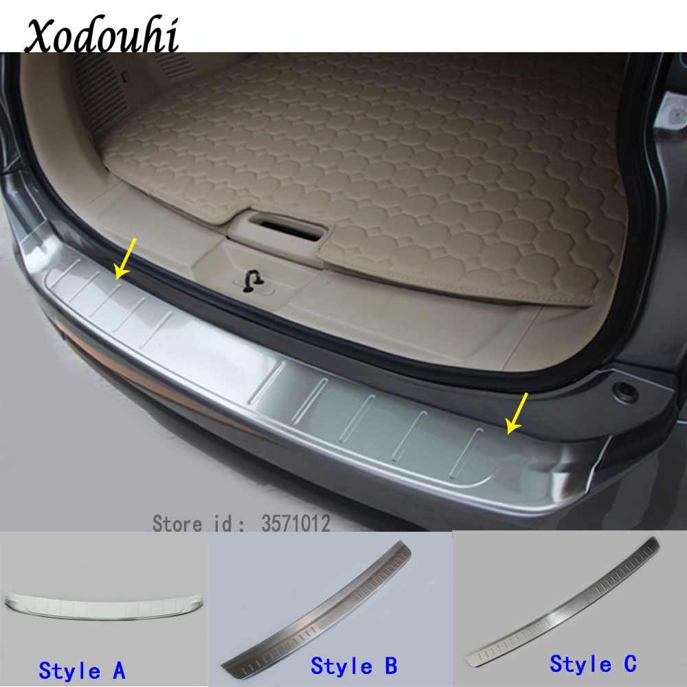 For Nissan X-Trail XTrail T32/Rogue 2014 2015 2016 car external rear bumper panel trunk trim cover Stainless Steel plate pedal abs car inner rear bumper protector tailgate trunk guard sill plate scuff trim cover for nissan x trail x trail rogue 2017 2018