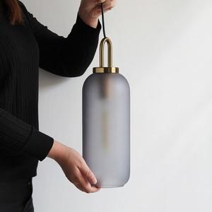 Image 5 - Vintage Postmodern Nordic Pendant Lights Creative Suspended Glass Jar Hanging Lamp Dining room Restaurant Bar Pendant Light