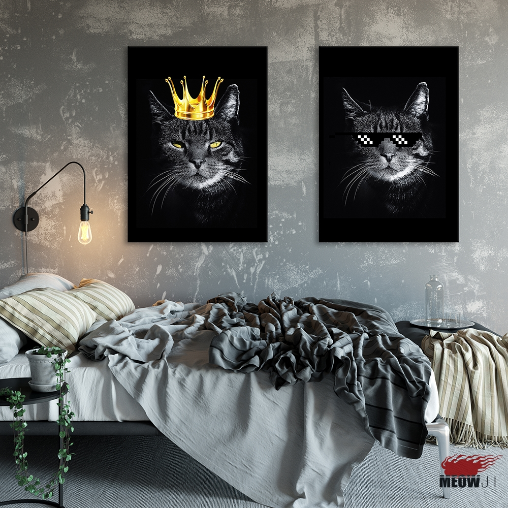 Posters Wall Art Printed Canvas Painting For Living Room Nordic Decoration Cool Hip Hop Black