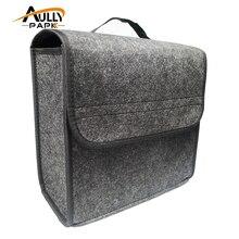 Автомобиль мягкий фетровая коробка для хранения багажник сумка автомобиль инструмент коробка мульти-Применение инструмент Органайзер сумка ковер складной Автомобильный интерьер Аксессуары