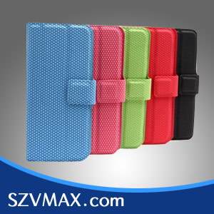 free shipping newest foldable leather case  for Iphone 5 leather cover  candy color  10pcs a lot