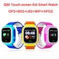 Lo nuevo WIFI Reloj Inteligente Reloj Bebé Kid Safe Q90 Pantalla Táctil Llamada SOS Localizador GPS Tracker para Niño Perdido Anti Monitor