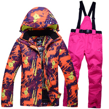 free shipping men s Woman s ski suit winter sports outdoor jacket pant suits skiing