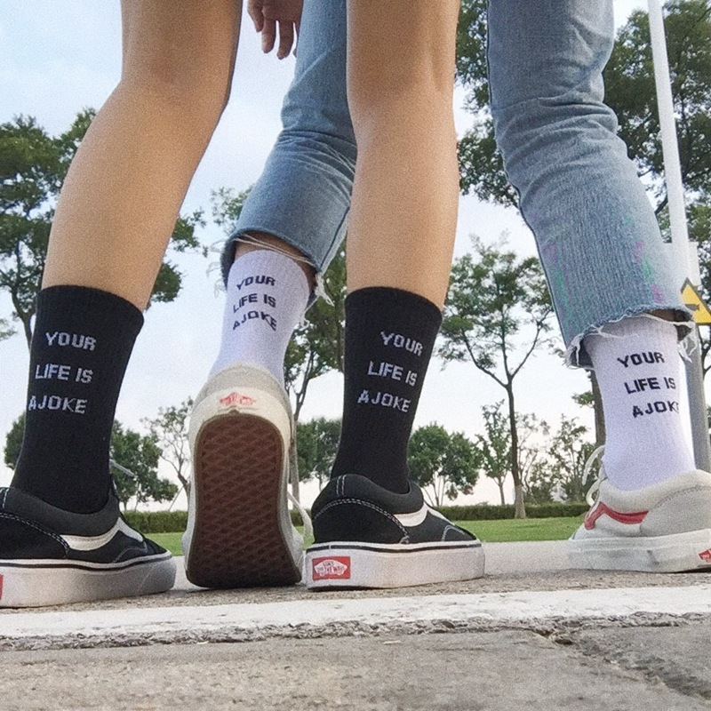 Women Cotton   Socks   Harajuku Hip Hop Sakte Board Funny   Socks   New Fashion Female Casual Letters Print   Sock   Woman Meias Unisex Sox
