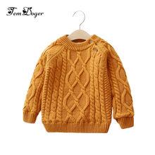 3d7717d408a3 Tem Doger Children Sweater Boys Girls for Winter O-neck Warm Thicken  Sweaters Kids Girl Boy Fleece Lined Cardigan Pullover Tops