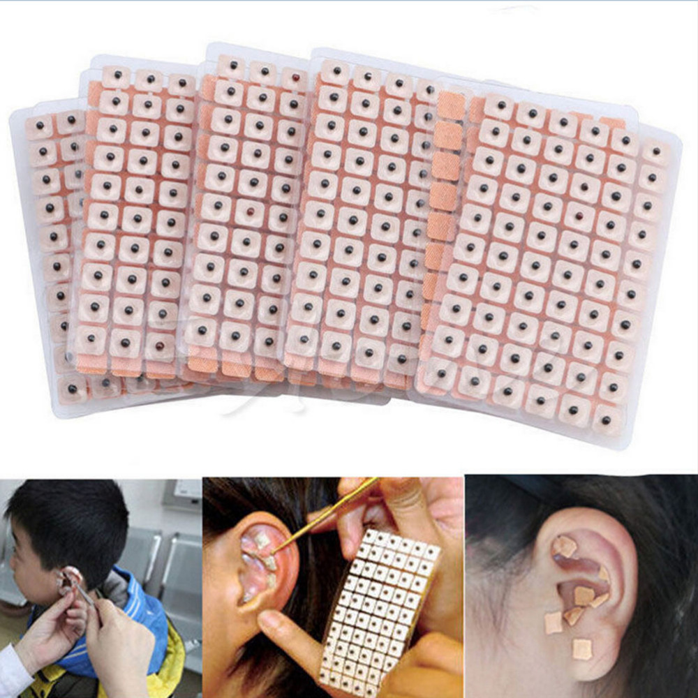 600Pieces New Acupuncture Needle Ear Seeds Vaccaria Seed Ear Massage Ear Stickers Auricular-paster Ear Press Seeds