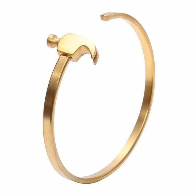 Fashion 2016 New Style ROUILLE Titanium Steel Hammer Restoring Ancient Ways Bracelet Men Round Hammer Cuff Bracelet & Bangles