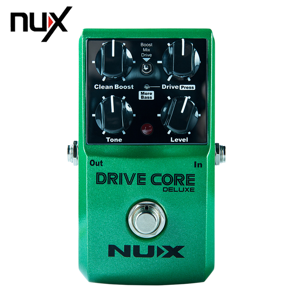 NUX Drive Core Deluxe Overdrive Classical Electronic Guitar Effect Pedal Mixture of Boost Overdrive Sound True Bypass