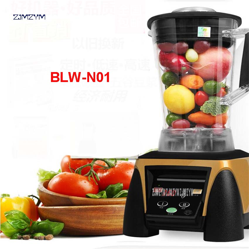 48000 RPM 2200W Commercial Heavy Duty Professional Digital Automatic Timer Juicer Mixer Kitchen Robot Mixer 2L Capacity BLW-N01 bpa 3 speed heavy duty commercial grade juicer fruit blender mixer 2200w 2l professional smoothies food mixer fruit processor