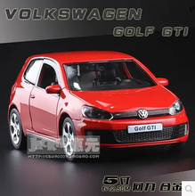 New Volkswagen Golf 6 1 32 GTI alloy metal car model diecast pull back kid boy