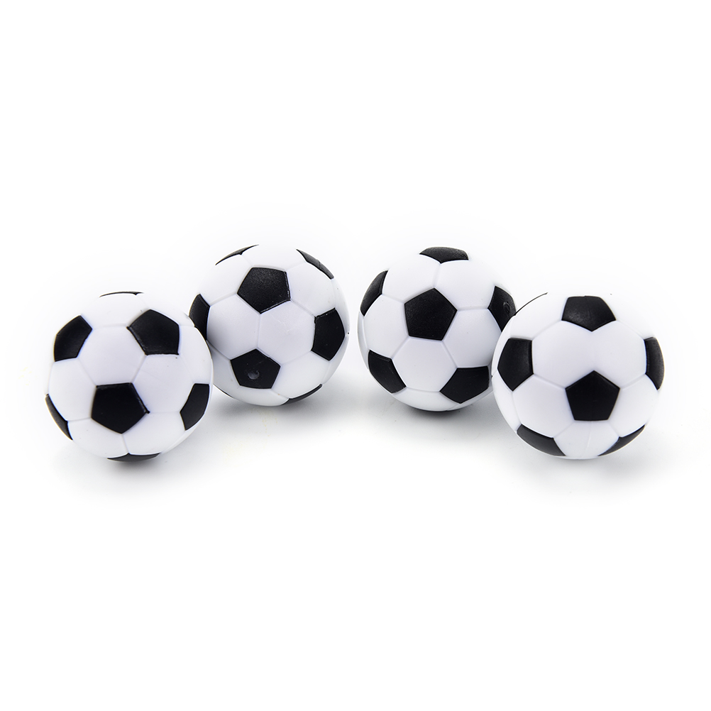 4 Pcs 32mm White Black Plastic Soccer Table Foosball Mini Ball Soccer Round Indoor Games Machine Parts image