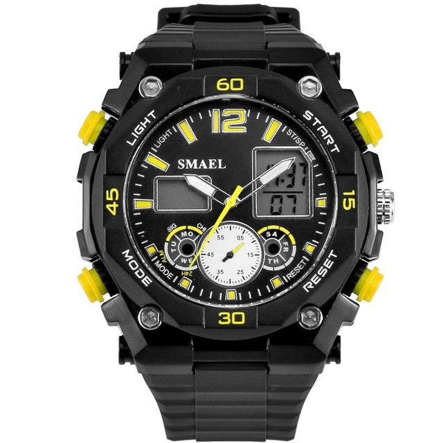 Многофункциональный мужские Спортивные Часы СВЕТОДИОДНЫЙ Цифровой Наручные Часы Мужской Часы Кварцевые Часы relogios masculino montre homme WS1363
