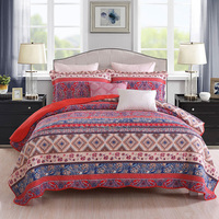 Bohemia Quality Cotton Bedspread Quilt Set 3pcs Quilted Coverlet Quilts Bed Covers Pillowcase King Queen Size 230x250cm Bedding