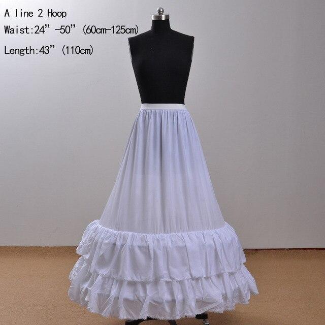 e13586e8f790 A Line Two Hoop Jupon Mariage 2015 White Underskirt For Wedding Dress Brial  Petticoat Enaguas Novia