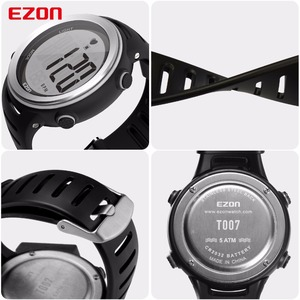 Image 4 - New Arrival EZON T007 Heart Rate Monitor Digital Watch Alarm Stopwatch Men Women Outdoor Running Sports Watches with Chest Strap