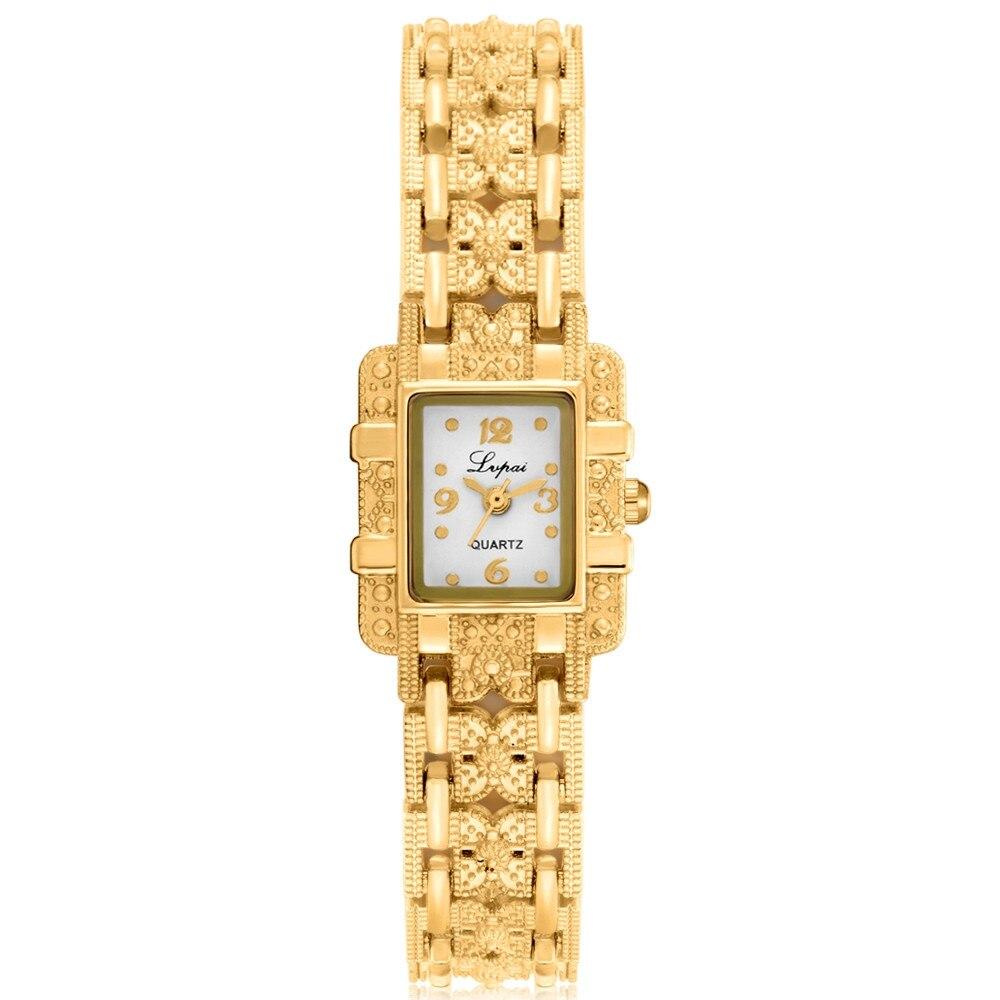 women watches top brand luxury Stainless Steel Crystal Dial Quartz Bracelet Luxury Wrist Watch watch women gold #XTN