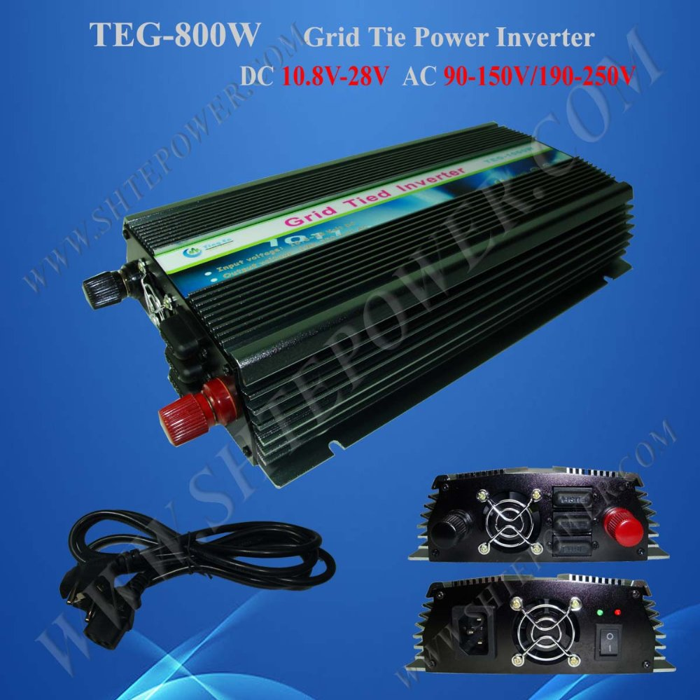 800W Power Inverter for Solar Panel On Grid System, DC 10.8V-28V to AC 90V-150V, One Year Warranty, High Quality