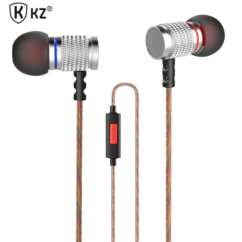 Original KZ EDR2 In-Ear Earphone Metal Heavy Super Bass Sound Earbuds With Microphone For Smart Phone PC original senfer dt2 ie800 dynamic with 2ba hybrid drive in ear earphone ceramic hifi earphone earbuds with mmcx interface