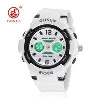 Ohsenแบรนด์กีฬานาฬิกาสำหรับผู้หญิงสบายๆแบบDual