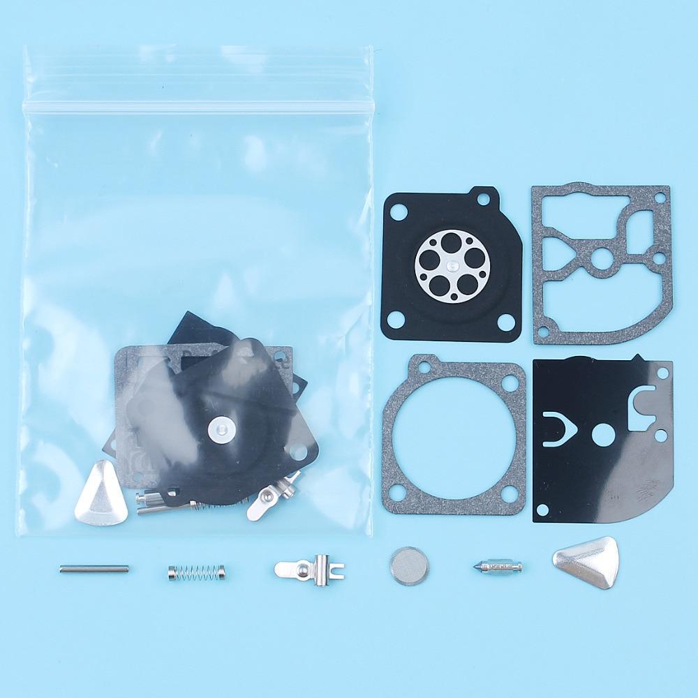 2Pcs/lot Carb Carburetor Repair Rebuild Kit For Partner 400 410 450 460 490 510 Jonsered 2041 2045 2050 & RS44 ZAMA RB-45 Saws