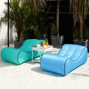Image 2 - Drop shipping Inflatable beanbag sofa outdoor beach chairs  air lounger sofa bed garden sofas