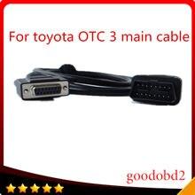 Ferramenta de diagnóstico cabo do carro para toyota it3 otc 3 para toyota substituir carros tester it2 teste mais carros otc3 obd2 16pin cabo principal