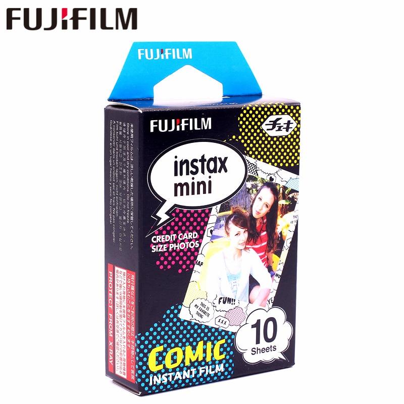 Galleria fotografica New Fujifilm 10 sheets Instax Mini Comic Instant Film photo paper for Instax Mini 8 7s 25 50s 90 9 SP-1 SP-2 Camera