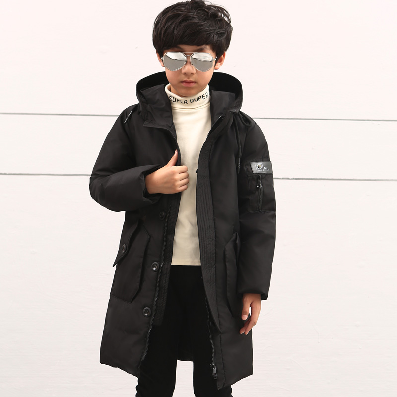 c8f0b0a48 Russian Winter Jackets Boy Duck Down Padded Jacket Big Boys Warm Parkas  Winter Down Coat Thickening Hooded Outerwear -in Down & Parkas from Mother  & Kids on ...