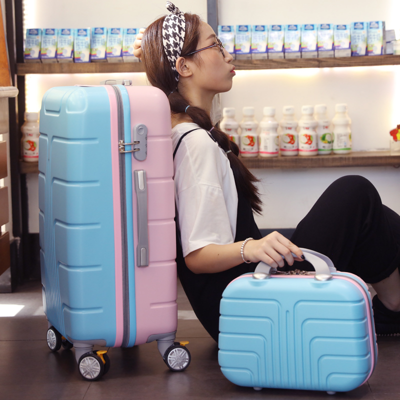 13+20 inch luggage sets, universal wheels rolling luggage, women boarding bags, spinner suitcase with lock vintage suitcase 20 26 pu leather travel suitcase scratch resistant rolling luggage bags suitcase with tsa lock