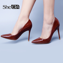 Купить с кэшбэком She ERA Brand Women Shoes High Heels Women Pumps Stiletto Heels Sexy Pumps Classic Pumps Women Wedding Shoes Heel Party Heels