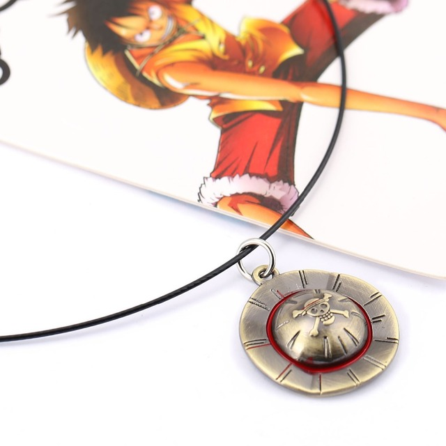 ONE PIECE Necklace Luffy Straw Hat Pendant Necklace Friendship Men Women Anime Jewelry Choker Accessories YS11447