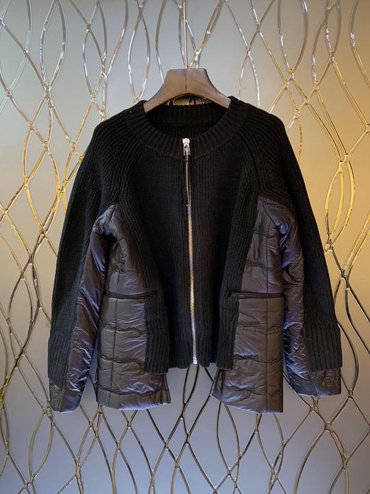 D'hiver Cravate 2018 Correspondant Couleur Noir Hiver Manches Jacket1122 Longues Et Couture De AqwtEawxp