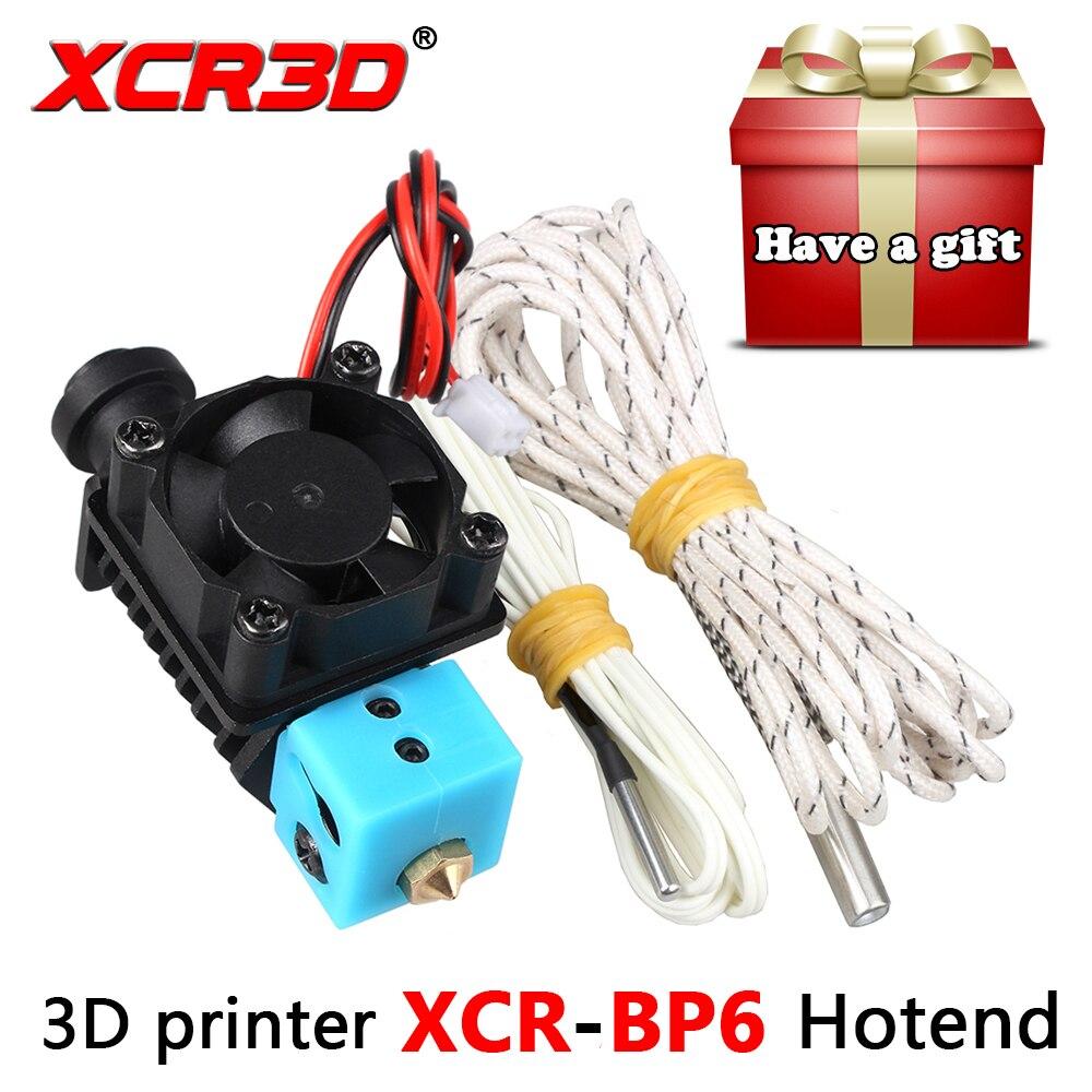 XCR3D 3D Parti Della Stampante V6 Hotend XCR-BP6 per 1.75mm Filamento Dritto Attraverso Gola 12 v 24 v Riscaldatore 1 m 2 m Estrusore j-testa dell'ugello