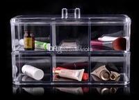 Cristal Transparent Boîte à Bijoux Top Acrylique Boîte De Rangement Cas Cosmétique Cadeau D'anniversaire