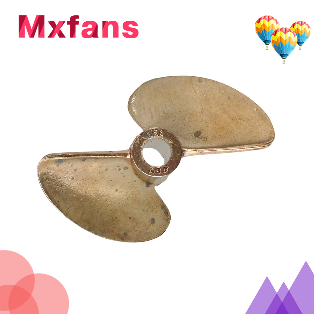 Mxfans 435 2 RC Boat Copper Propeller Two Leaves Hole 4MM Diameter 35MM Pitch1 4MM