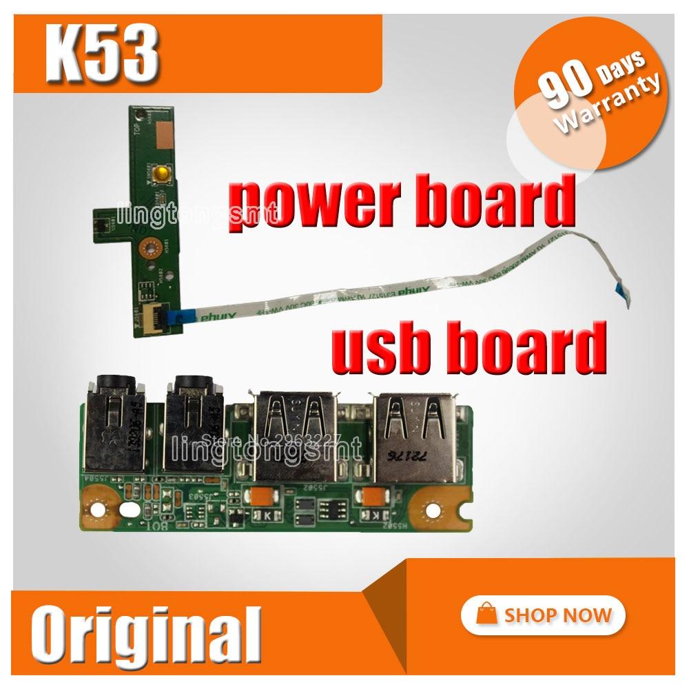NWE!!! FOR ASUS K53 K53SV A53S X53S K53S P53S P53Sj K53E X53E A53E IO USB AUDIO JACK Power Switch ON OFF Button BOARD ck 5pcs golden pin 2 5 mm socket plug connector dc power jack for asus k53 k53e k53s k53sd k53sv sales dc 042b