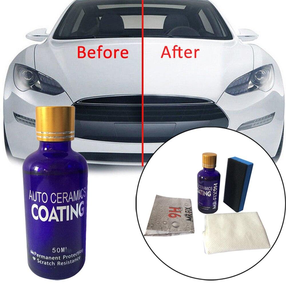 9H Car Polish Oxidation Liquid Ceramic Coat Super Hydrophobic Glass Coating Set Glasscoat Polishing Paint Care 9h paint coat car wax nano ceramic glass coating super hydrophobic scratch repair polishing