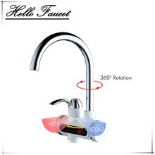 RU Современная Хром полированный электрический водонагреватель кран Кухня Мгновенный нагрев водопроводной воды нагреватель