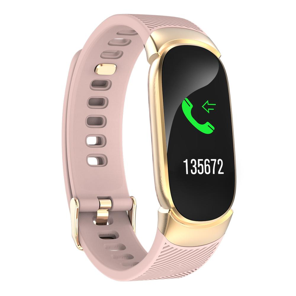 Smart Fitness Padometer Bracelet Color Screen Waterproof Heartbeat Blood Pressure Running Step Tacker Sport Pedometer Watch