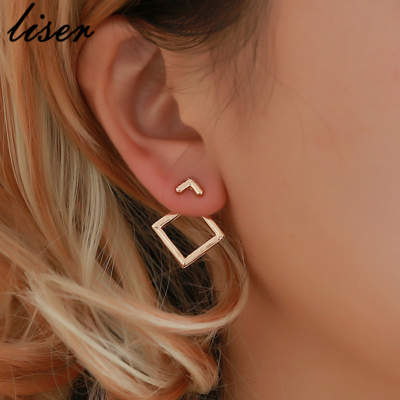 Fashion Jewelry Cute Triangle Dangle Earrings Ms. Square Earrings Unique Design Small Geometric Earrings Ms. Gift alentine's Day