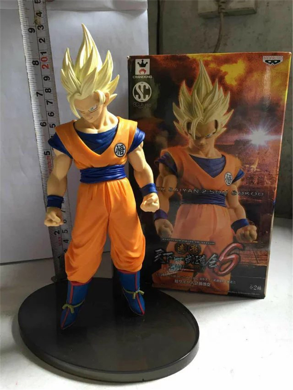 Anime Dragon Ball Z Super Saiyan 2 Son Goku PVC Action Figure Collection Model Kids Toys Doll Brinquedos 24CM DBAF019 8pcs set anime how to train your dragon 2 action figure toys night fury toothless gronckle deadly nadder dragon toys for boys