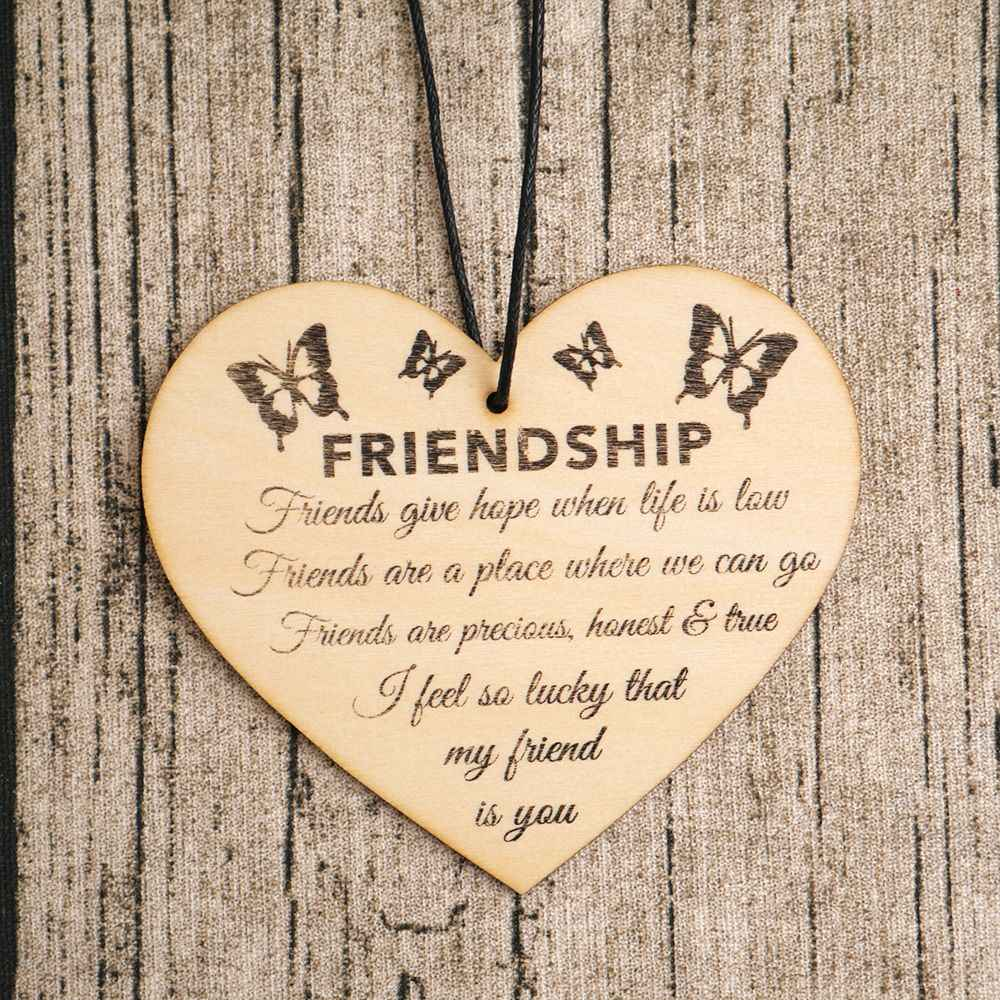 Shabby Style For the Best Friend Heart Wooden Sign Gift Decoration