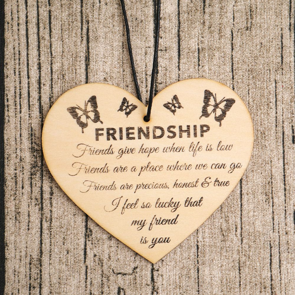 Friendship Plaque Sign Best Friend Gift Shabby Chic Heart Birthday Christmas