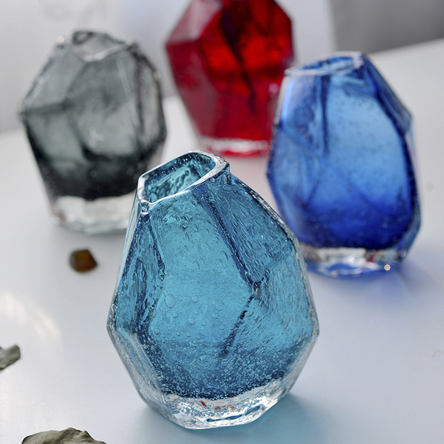 Fashion Mini Handmade Colored Glass Vase For Decoration Home Decor