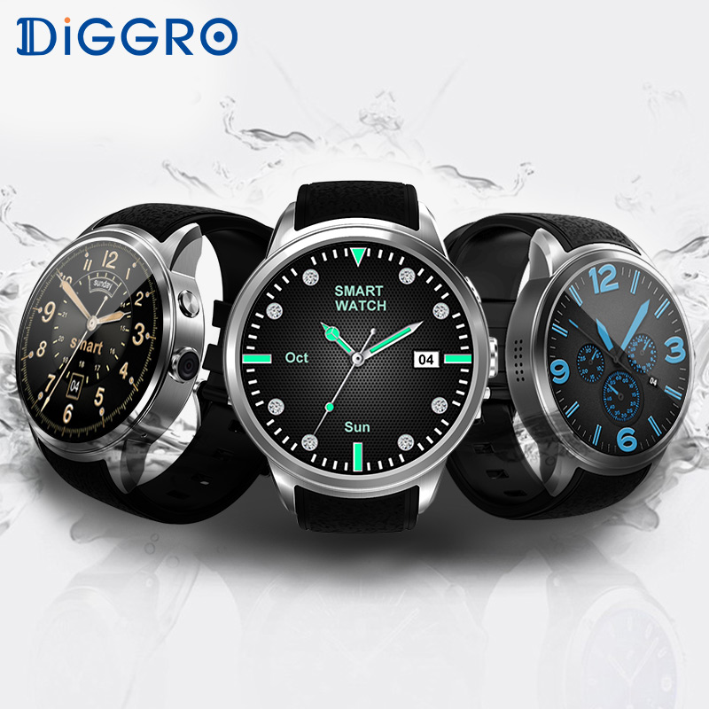 Smart watch Diggro DI01 Android 5.1 1GB ROM 16GB RAM Heart Rate Monitor Support Camera 3G WIFI GPS SIM Waterproof Smartwatch goldenspike x01 plus android 5 1 bluetooth smart watch mtk6572 support 3g wifi gps single sim micro sim heart rate monitor