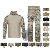 Emerson G2 боевая рубашка и штаны Топы + брюки w/Налокотники и наколенники комплект Тактический военно airsoft EmersonGear GEN 2 BDU форма