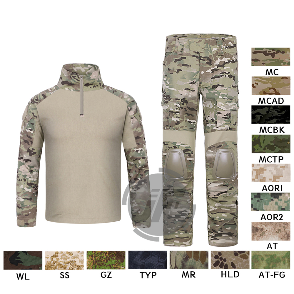 Emerson G2 Combat Shirt & Pants Tops+Trousers w/ Elbow & Knee Pads Set Tactical Military Airsoft EmersonGear GEN 2 BDU Uniform emersongear gen 2 bdu airsoft combat uniform training clothing tactical shirt pants with knee pads multicam tropic em6972
