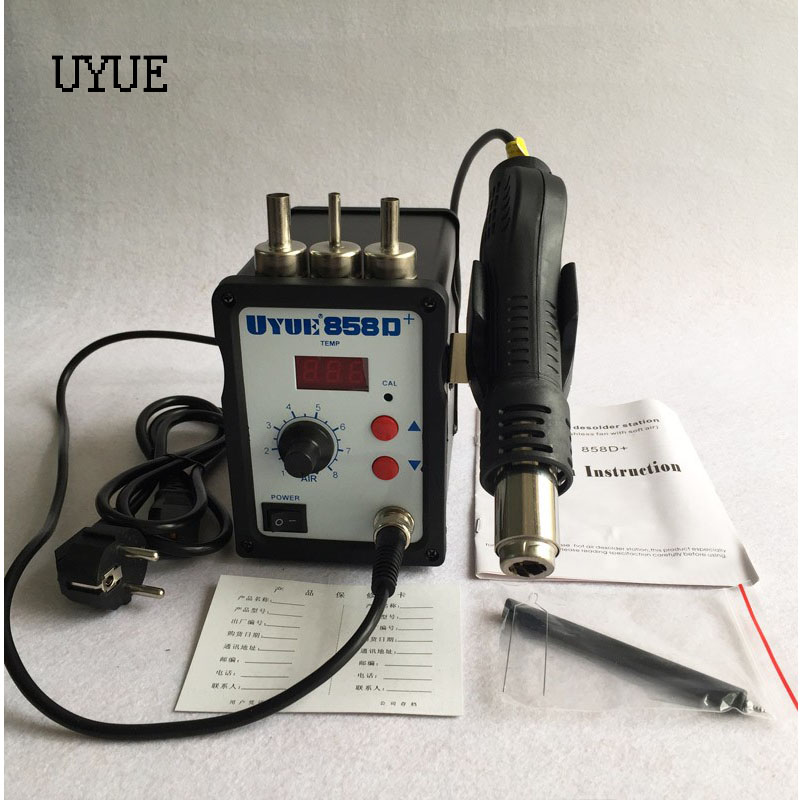 High quality Hot Air Gun ESD Soldering Station LED Digital Desoldering Station 700W heater gun Upgrade from Uyue 858D+ yihua 898d led digital 700w lead free smd desoldering soldering station hot air soldering station