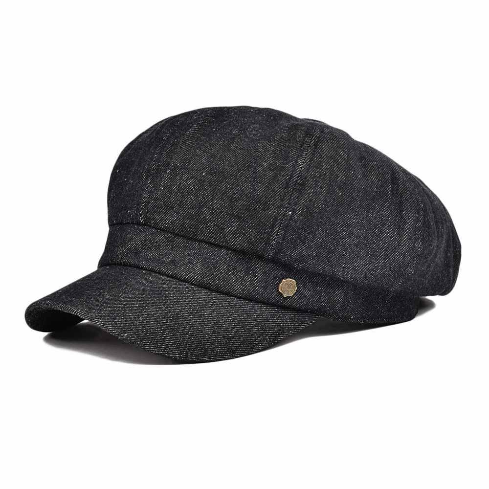 VOBOOM Baumwolle Irish Zeitungsjunge Mütze Frauen Dame Sommer Flapper Caps Denim Blau Schwarz Mädchen Weibliche Hut 322
